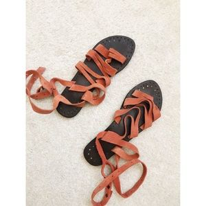 Free people tie up sandals size 40 size 7